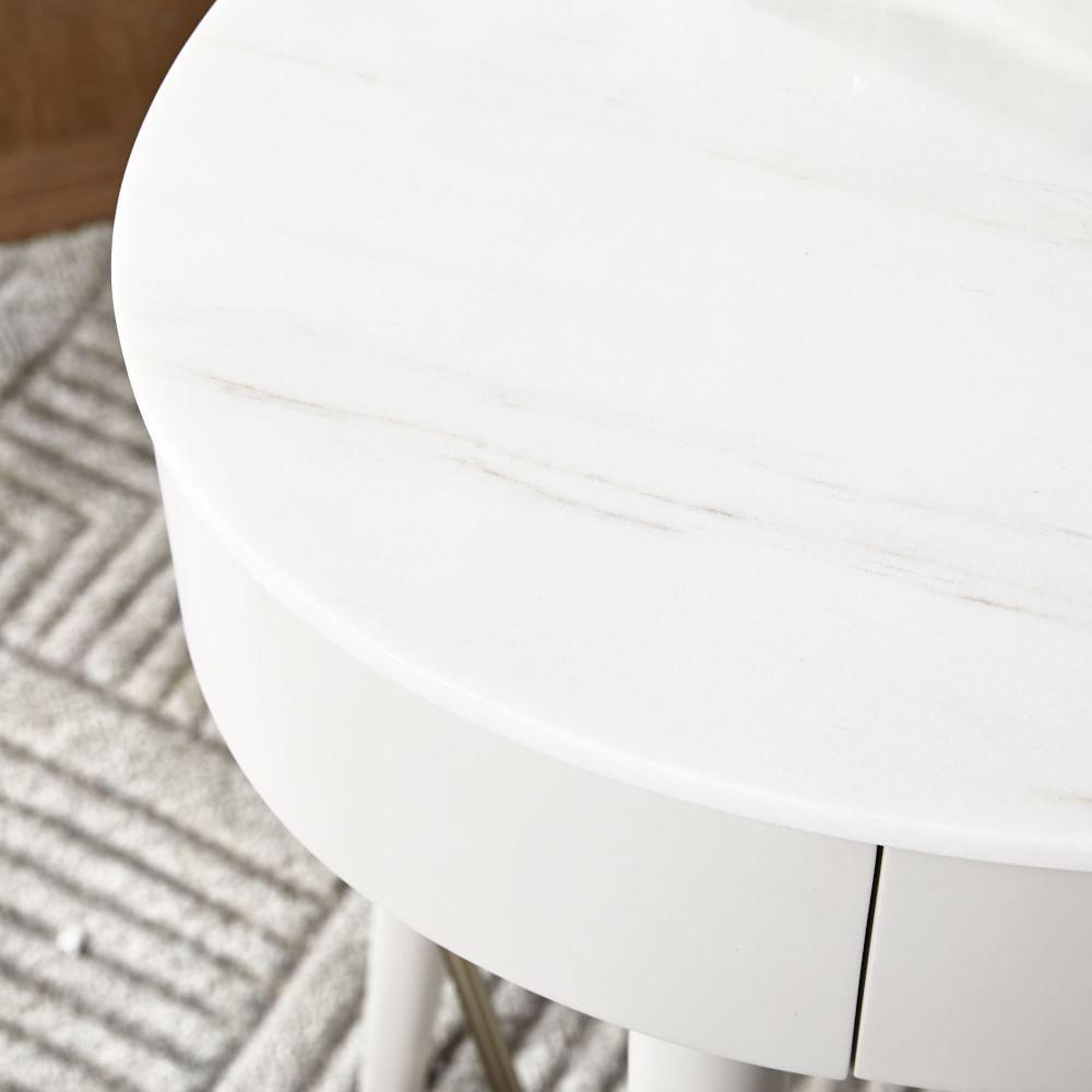 Penelope Mini Desk - Oyster w/ Marble Top