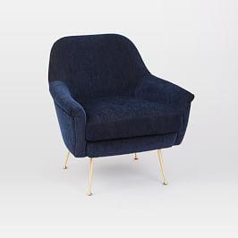 Phoebe Chair - Ink Blue