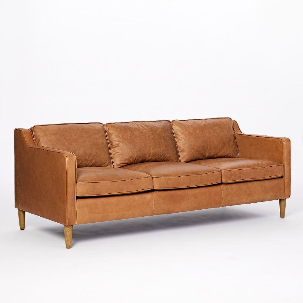 Leather Couch: Hamilton 3 Seater Leather Sofa (206 Cm)