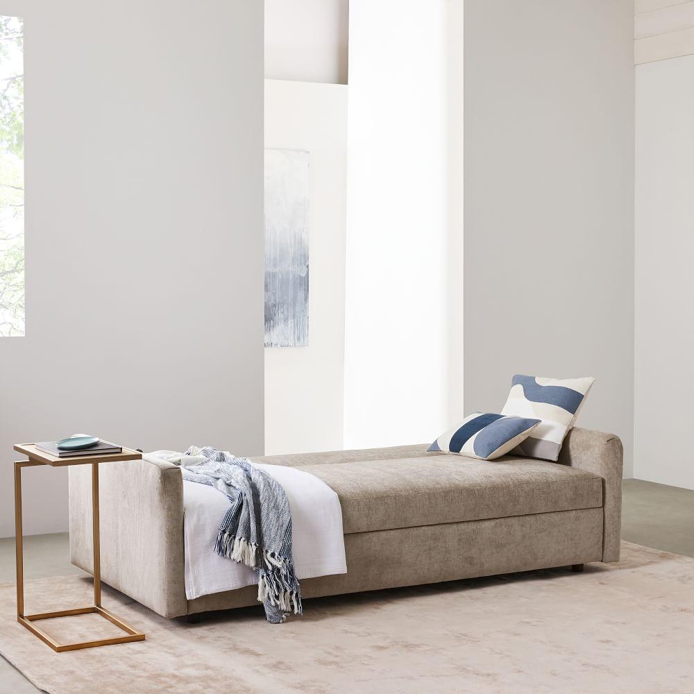 Taupe Velvet Sofa: Clara Sleeper Sofa (203 Cm)