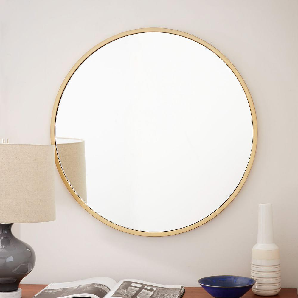 Metal Framed Round Wall Mirror   west elm Australia