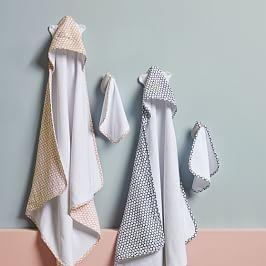 Dot Bath Wrap + Washcloth Sets