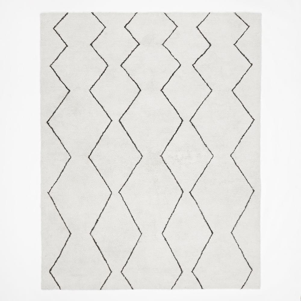 Baby Souk Wool Nursery Rug - Ivory/Graphite