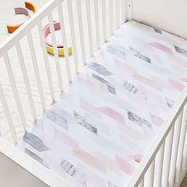 Organic Crystal Geo Cot Fitted Sheet