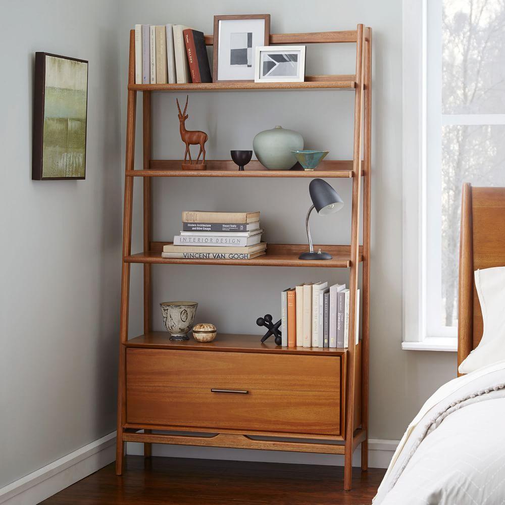 Mid century 96 5 cm bookshelf acorn