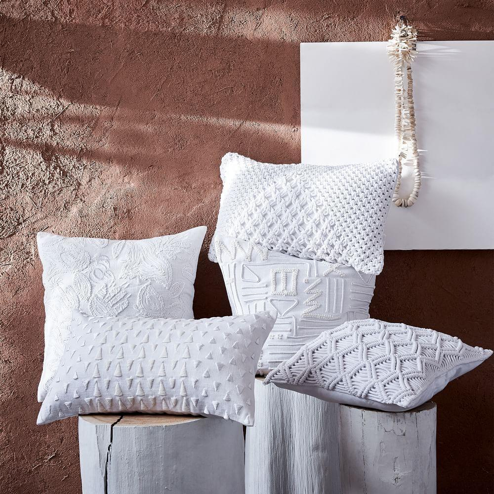 Embroidered White Cushion Covers West Elm Australia