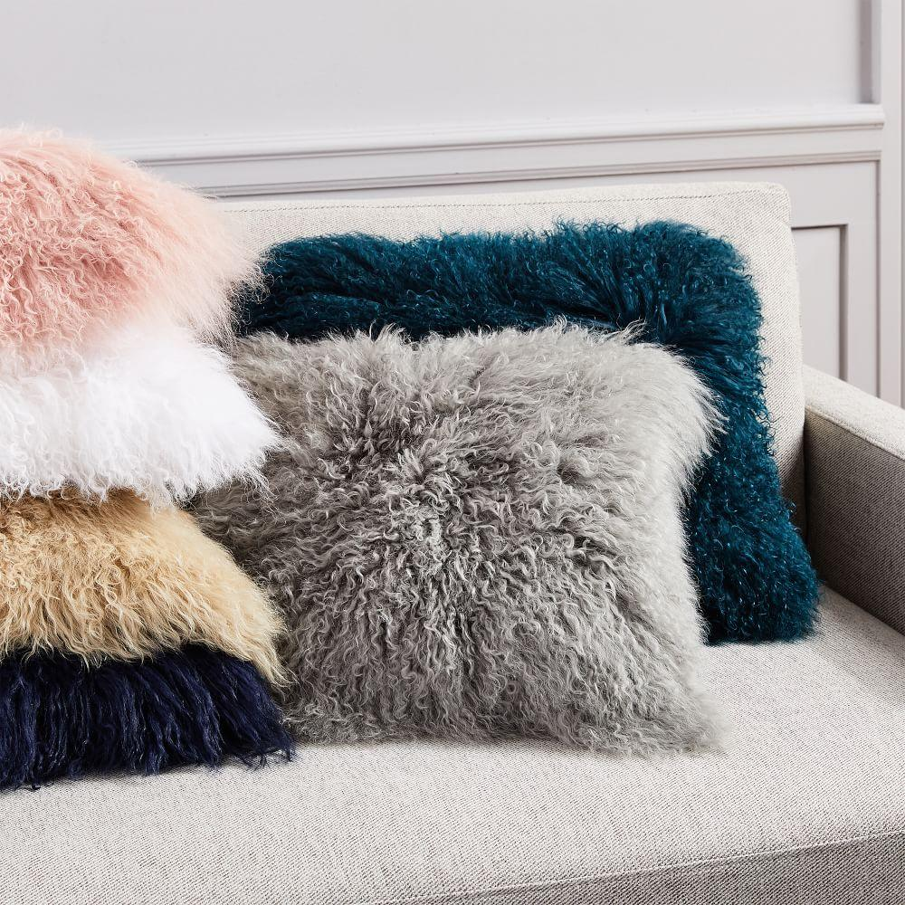 Mongolian Lamb Cushion Covers West Elm Australia