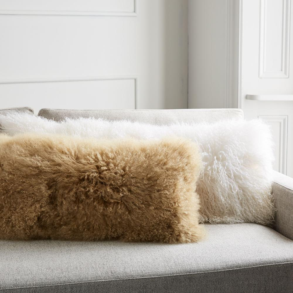 Mongolian Lamb Cushion Covers