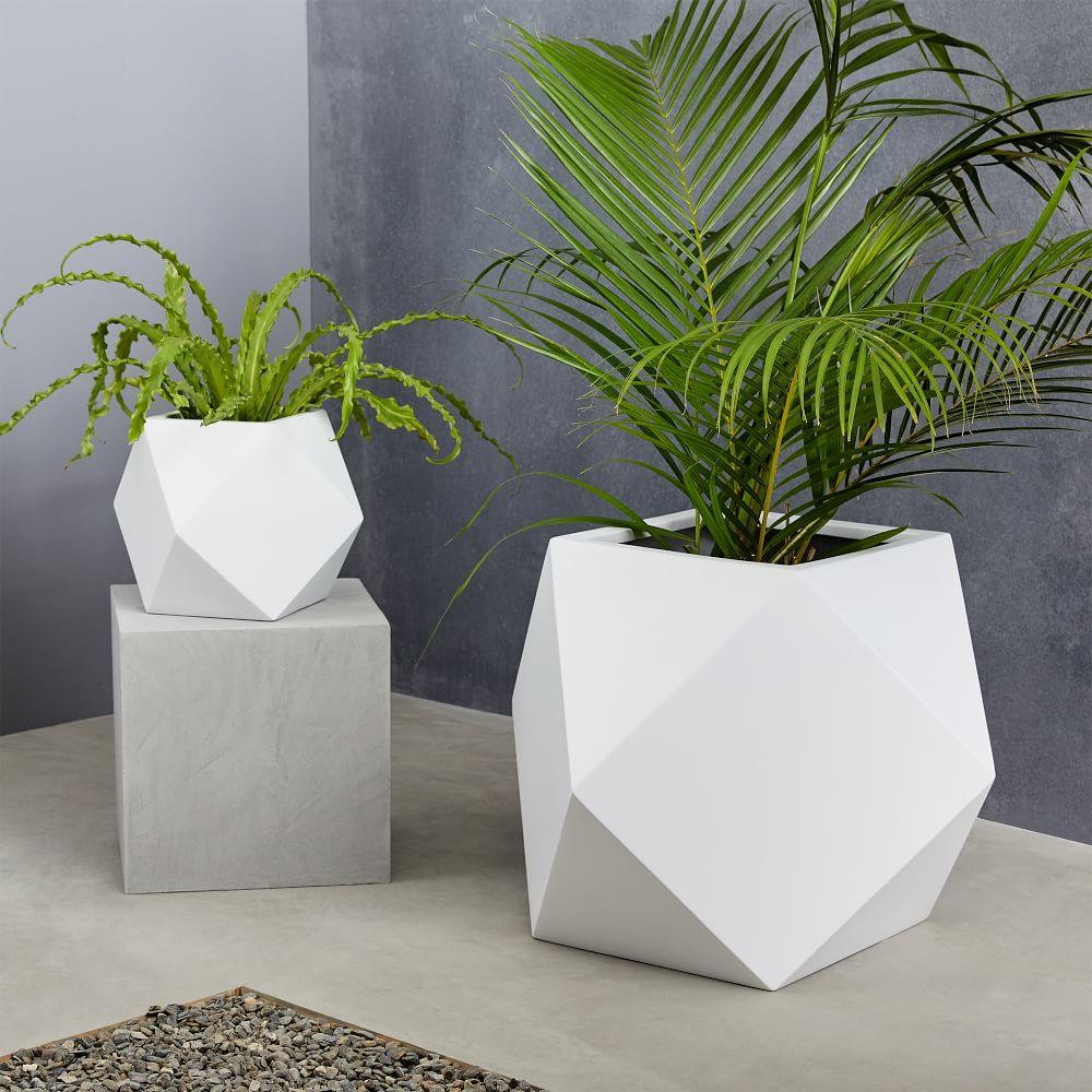 Faceted Modern Planters