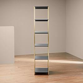Zane Narrow Bookshelf - Grey