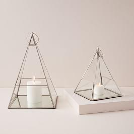 Terrace Pyramid Lanterns - Polished Nickel