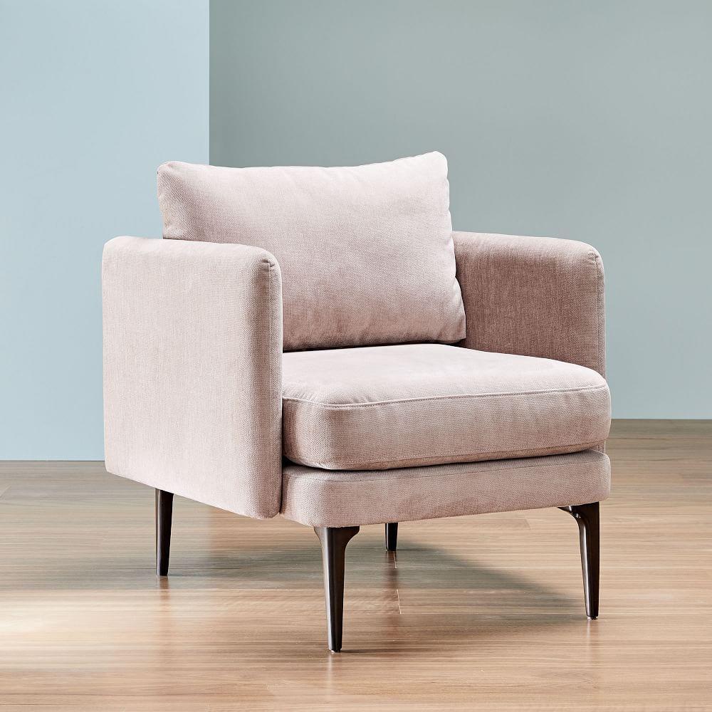 Auburn Chair - Light Pink (Distressed Velvet)