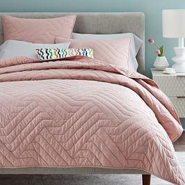Organic Deco Coverlet + Pillowcases - Rosette