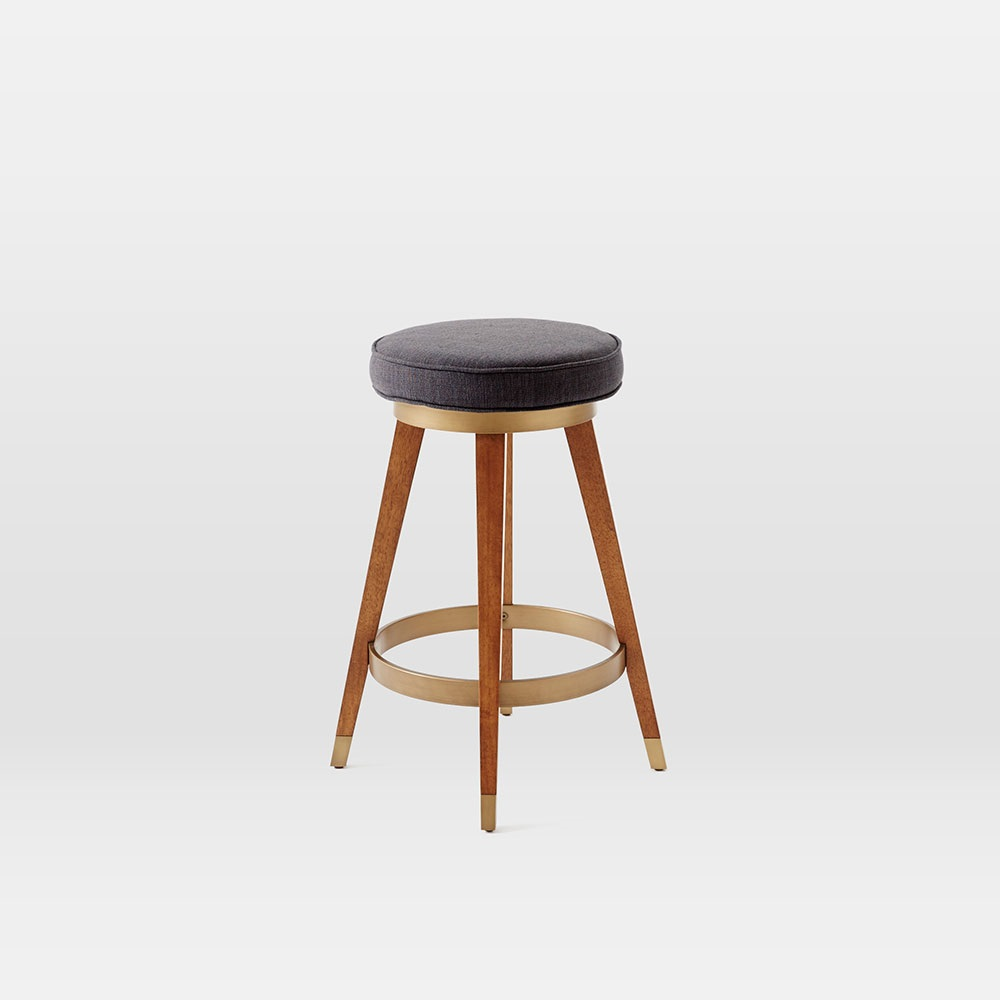 Mid-Century Swivel Bar + Counter Stool