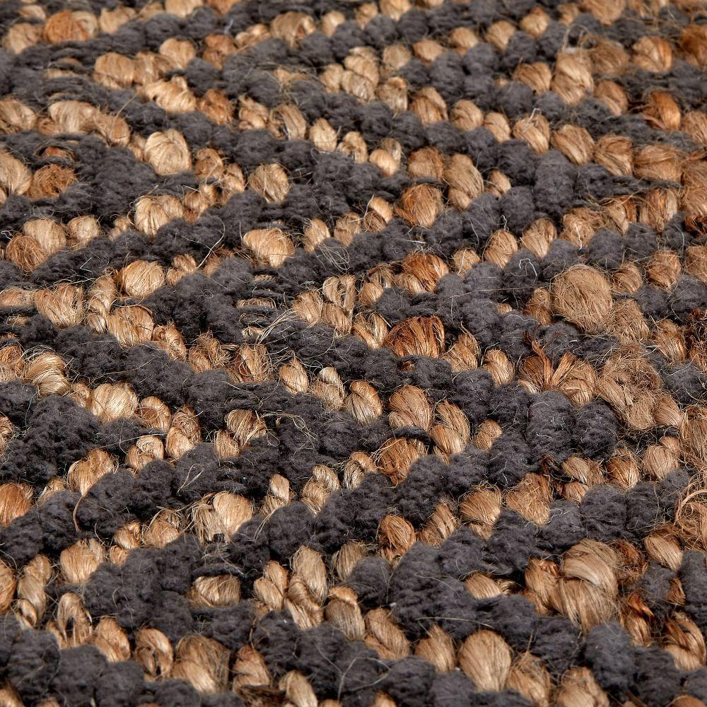 Jute Chenille Herringbone Rug - Natural/Slate