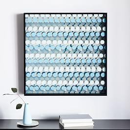 Optic Wall Art - Grey/Blue