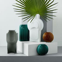 Retro Encased Glass Vases