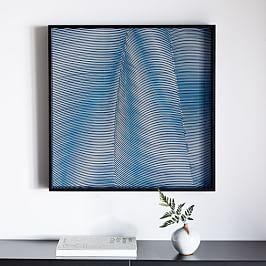 Optic Wall Art - Blue Topaz
