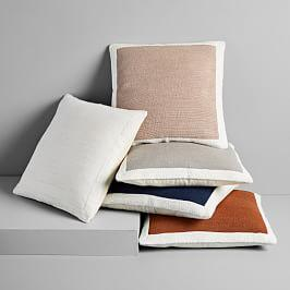 Textured Border Cushion Covers