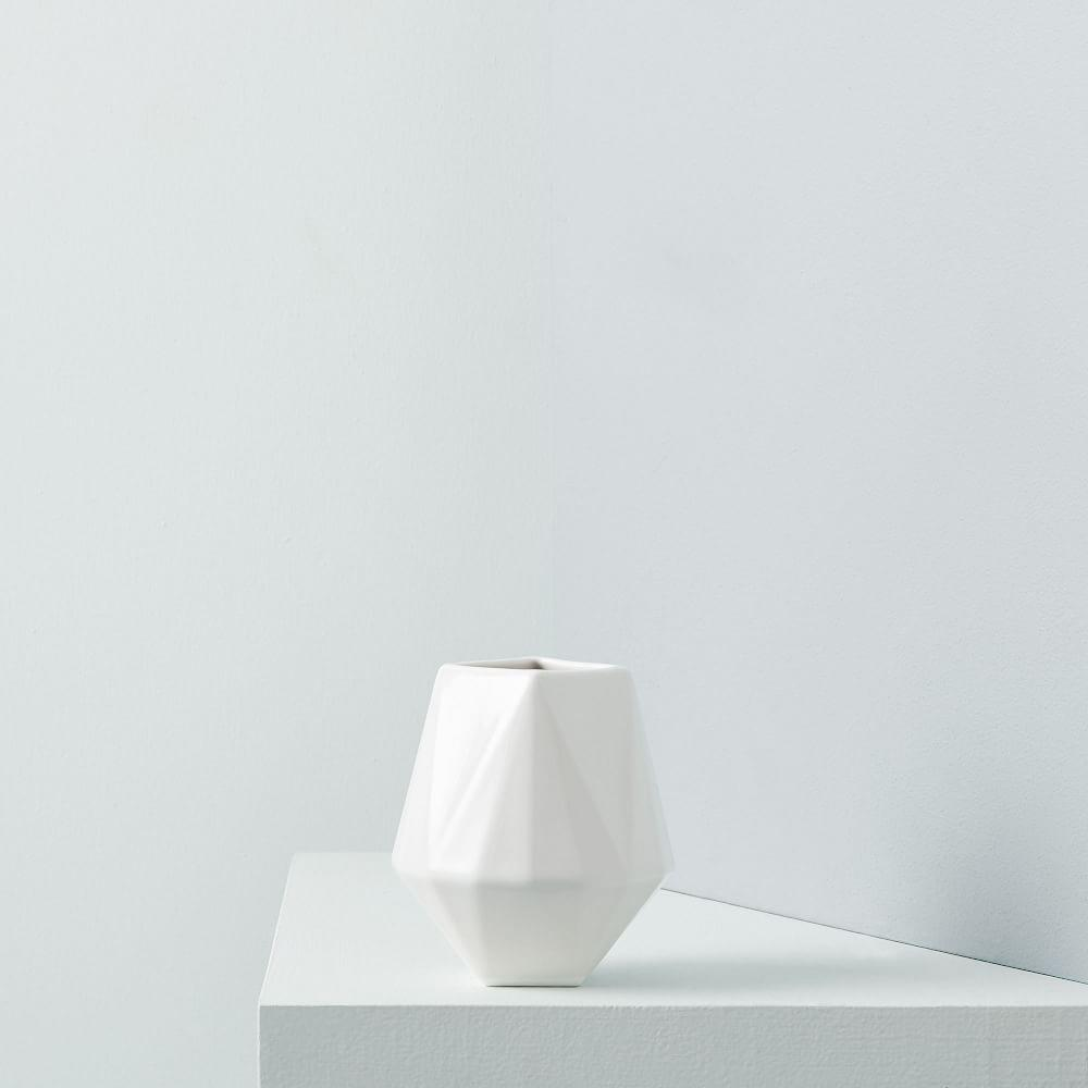 Faceted Porcelain Vases