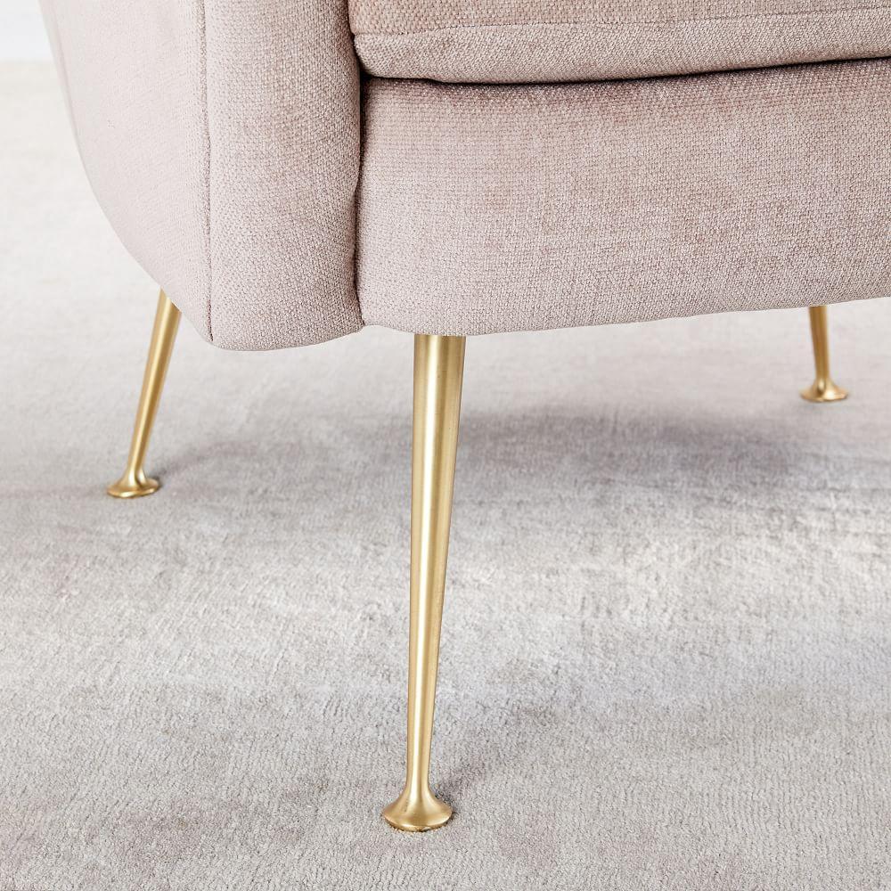 Phoebe Chair - Light Pink (Distressed Velvet)