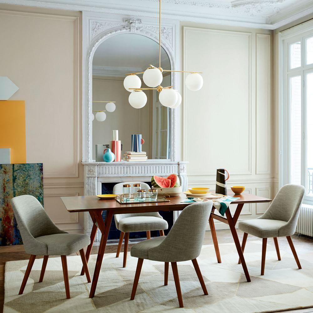 Mid Century Expandable Dining Table Walnut West Elm Australia