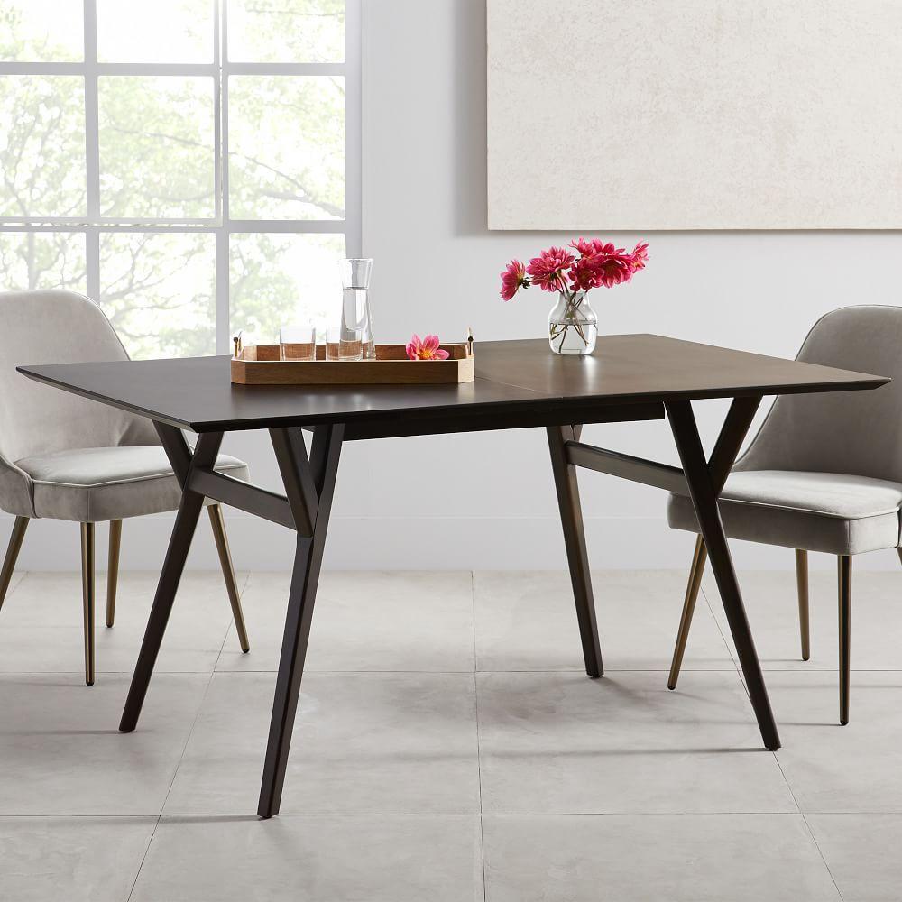mid century expandable dining table walnut west elm australia. Black Bedroom Furniture Sets. Home Design Ideas
