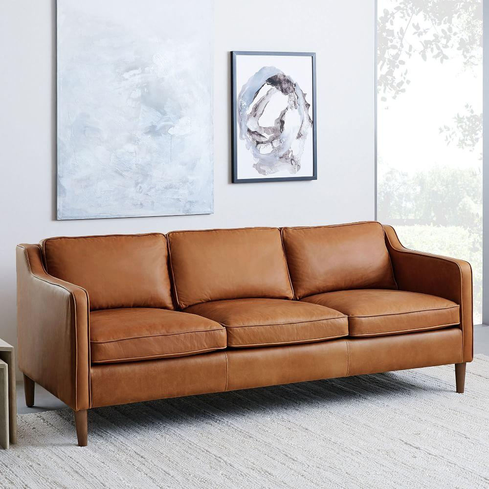 Hamilton Leather Sofa 206 Cm West Elm Australia