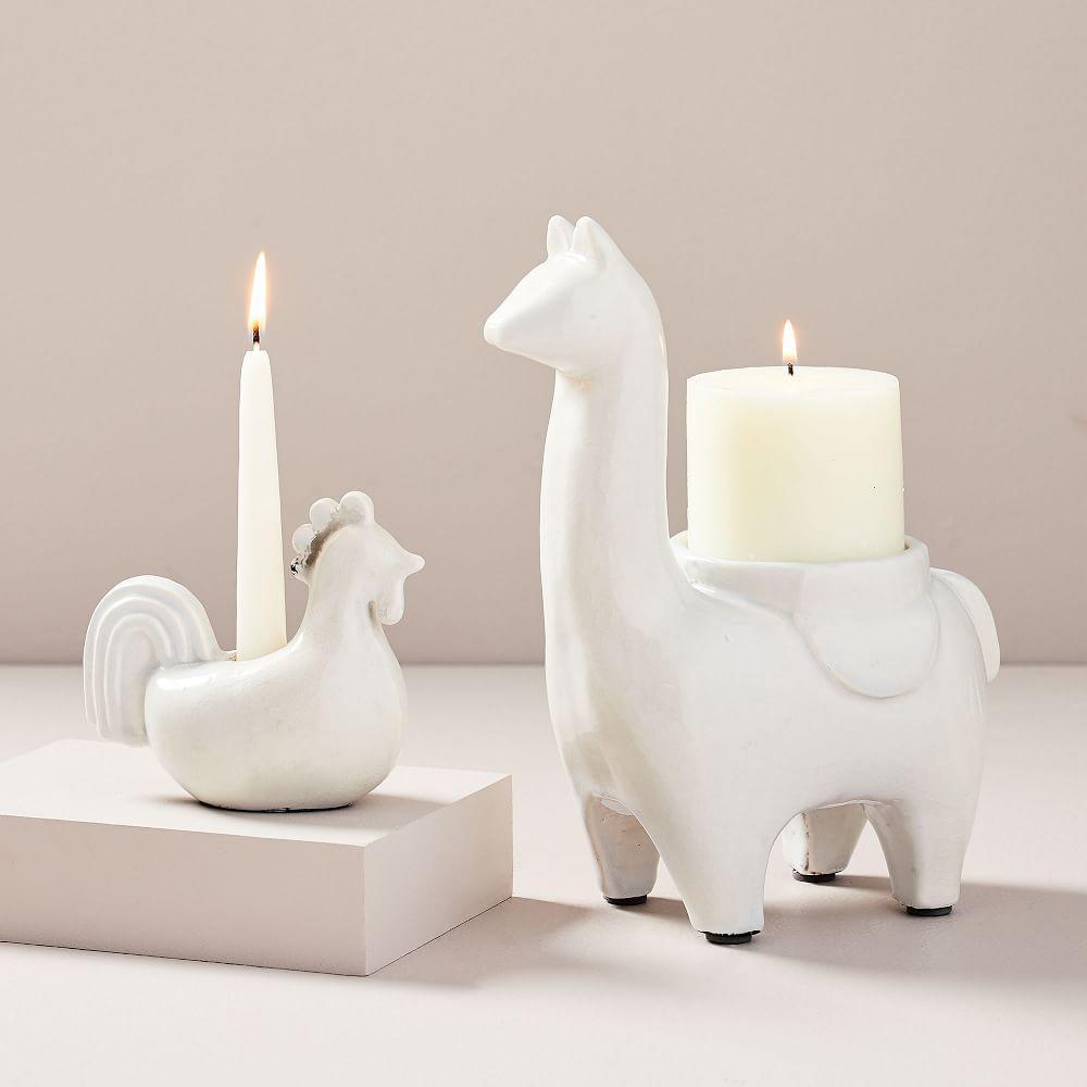 Ceramic Farm Animal Candleholders
