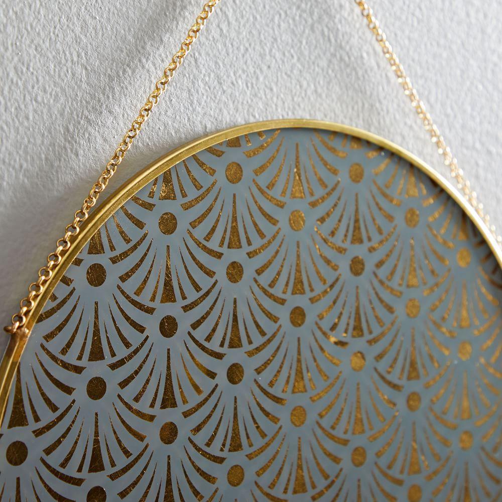 Gilded Pendant Wall Art (Set Of 3)