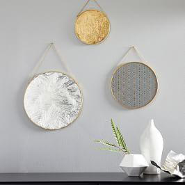 Gilded Pendant Wall Art (Set Of 3)