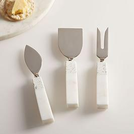 Edge Marble + Terazzo Cheese Knives (Set of 3)