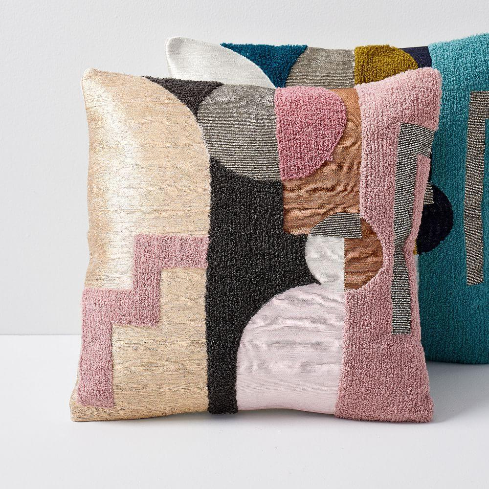 Embellished Deco Shapes Cushion Covers