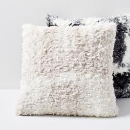Faux Shearling Cushion Covers