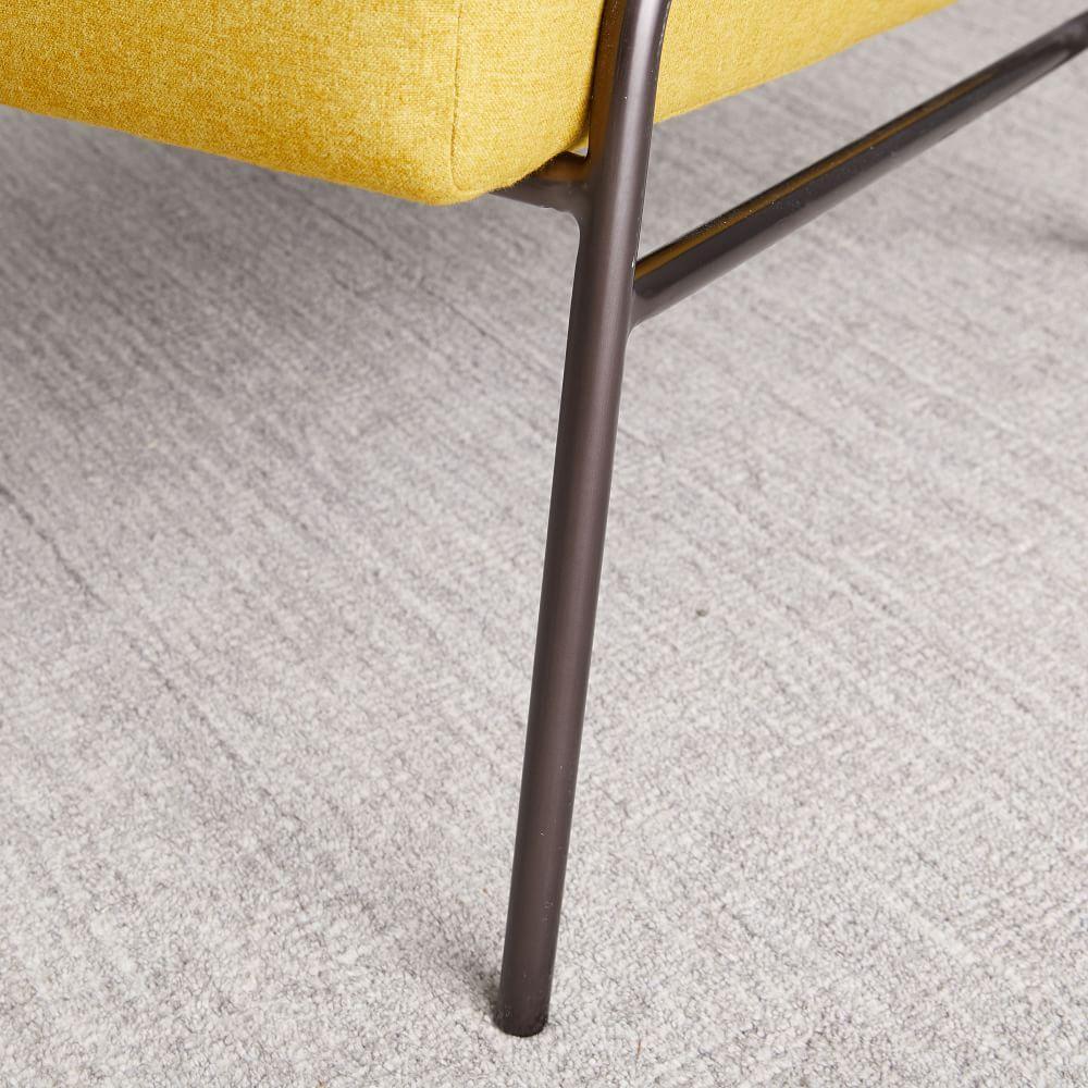 Wire Frame Slipper Chair - Horseradish