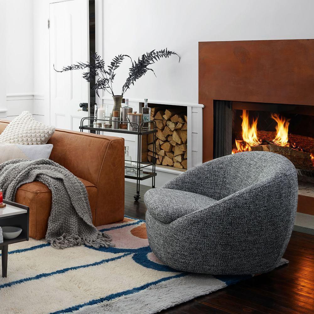 Cosy Swivel Chair West Elm Australia