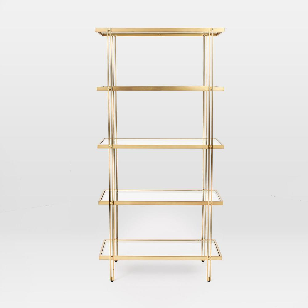 Fulton Bookshelf - Antique Brass