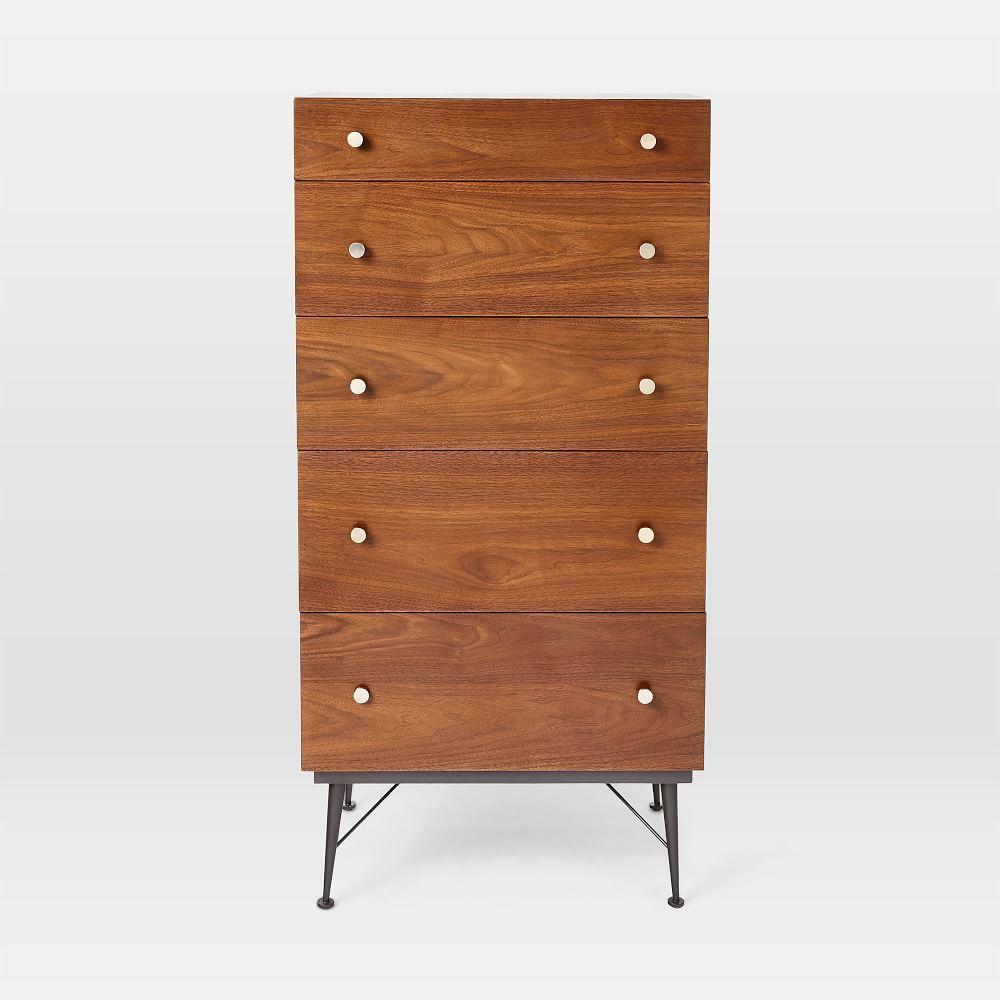 Paulson Mid-Century 5-Drawer Dresser