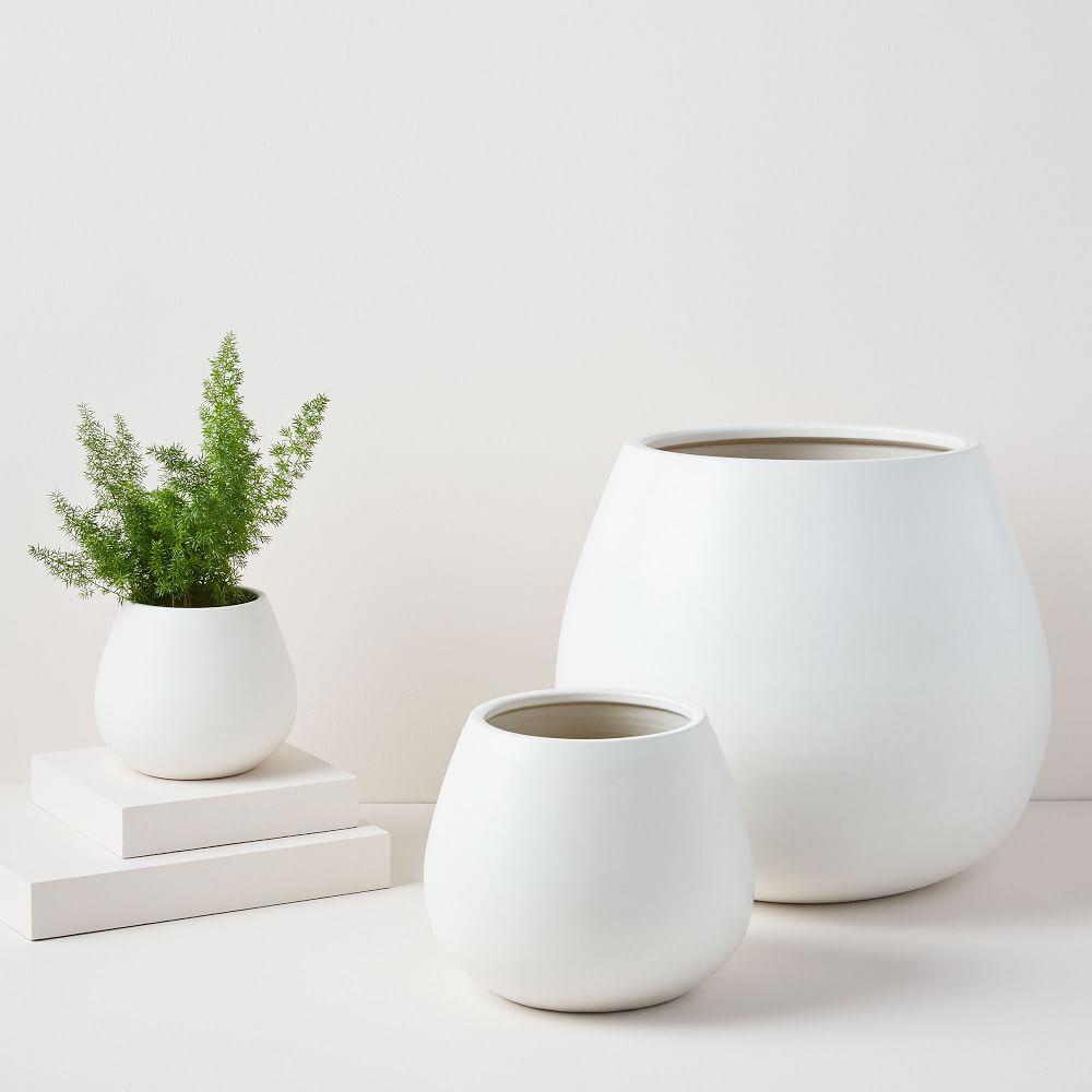 Pure White Ceramic Planters