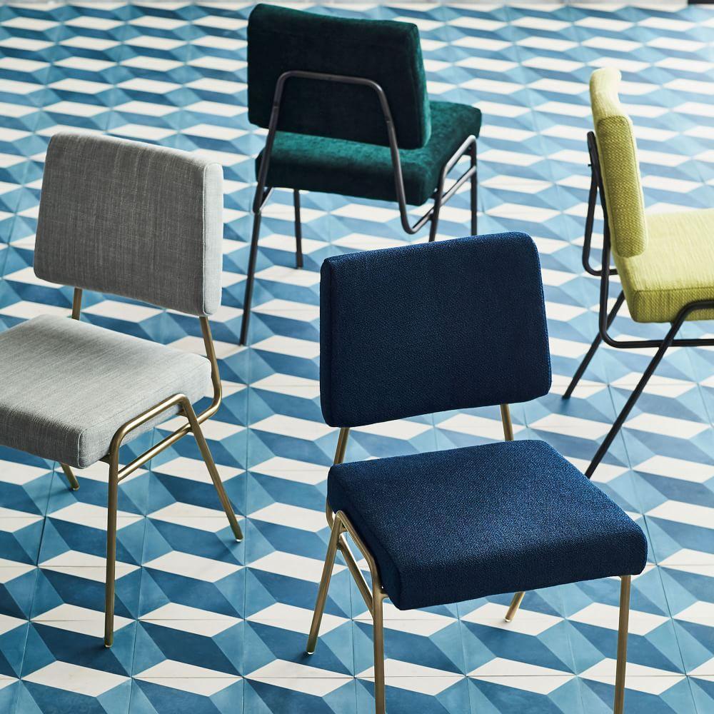 Wire Frame Velvet Dining Chair | west elm Australia