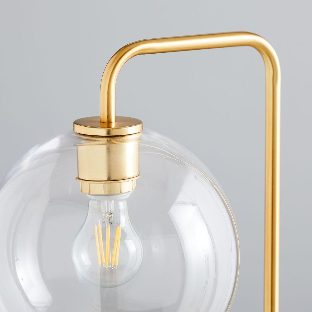 Sculptural Glass Globe Floor Lamp