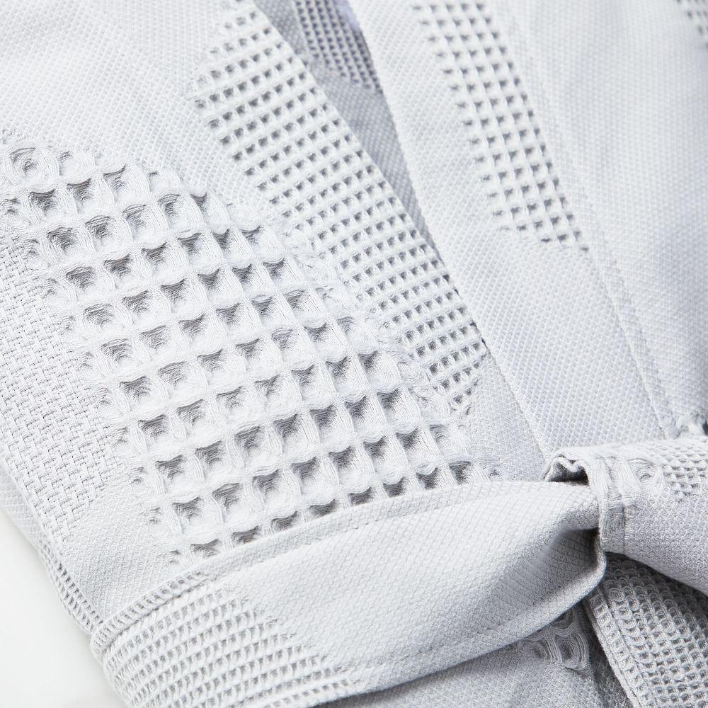 Geo Waffle Organic Cotton Robe