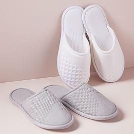 Geo Waffle Organic Cotton Slippers