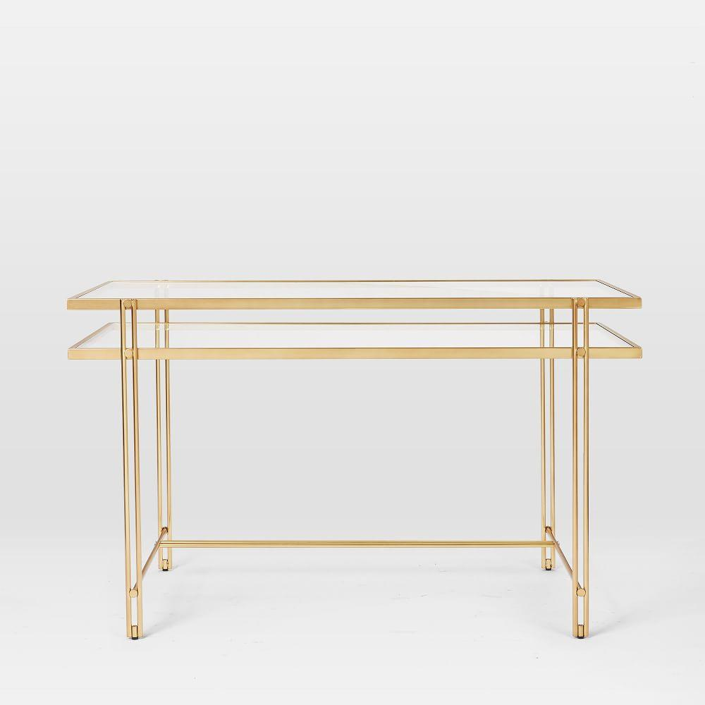 Fulton Desk - Antique Brass