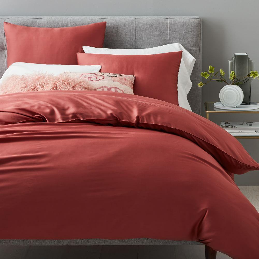TENCEL™ Quilt Cover + Pillowcases - Pink Grapefruit