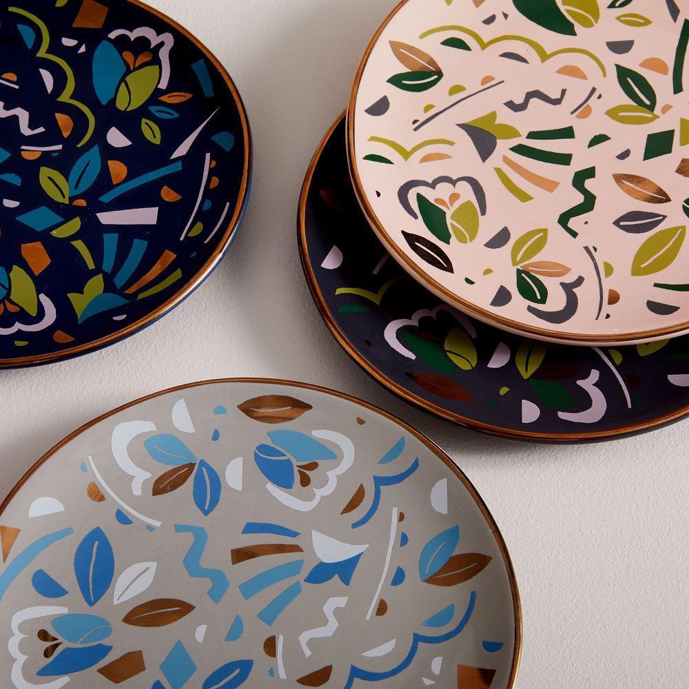 Pop Art Salad Plates (Set of 4)