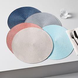Round Woven Placemat Set