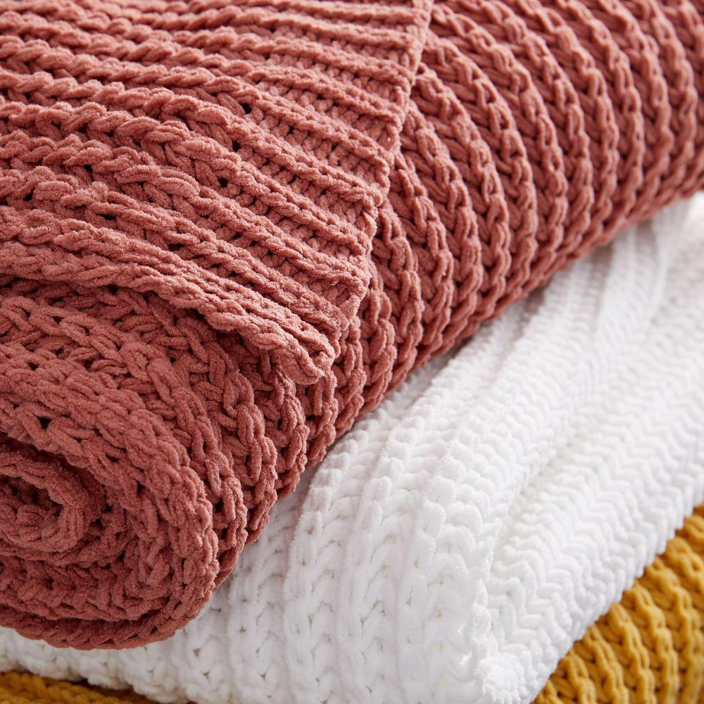 Chenille Rib Throw