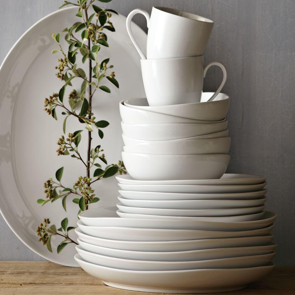 Organic Shaped Dinnerware Set West Elm Australia