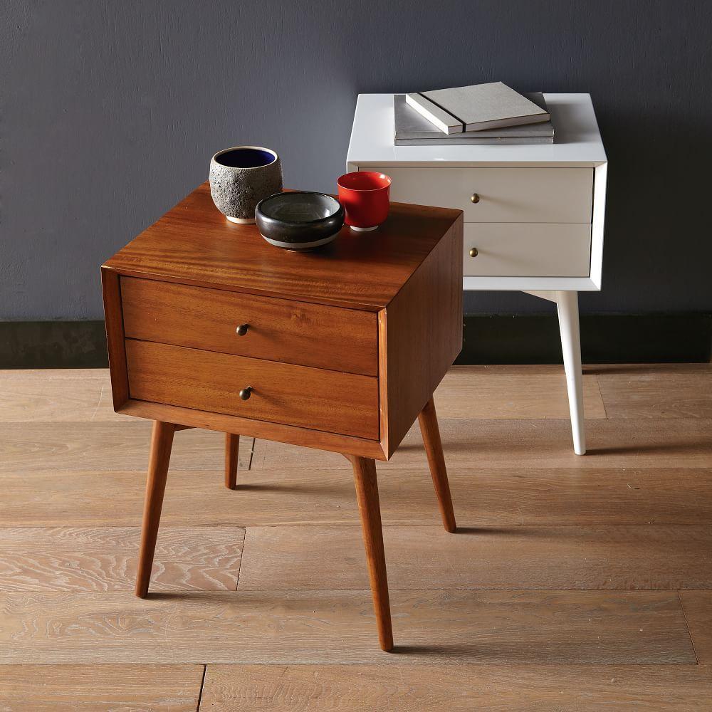Mid Century Bedside Table Acorn